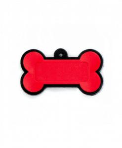 Chaveiro Osso - Emborrachado Vermelho