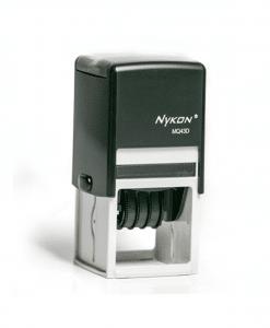 Carimbo datador MQ43D - 4,3 x 4,3cm - Nykon